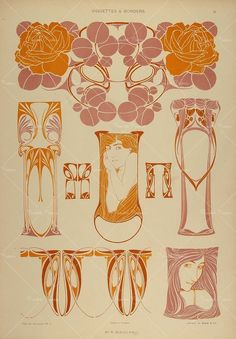 1904 lithograph. Rose. Rene Beauclair
