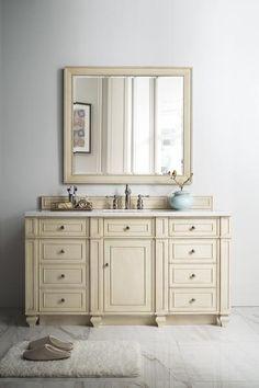 "Bristol 60"" James Martin Vintage Vanilla Bathroom Vanity"