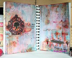 the Colour Press: Journey - Art journal page with tutorial