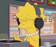 Find images and videos about music, cartoon and lisa on We Heart It - the app to get lost in what you love. Mood Wallpaper, Wallpaper Iphone Cute, Cartoon Wallpaper, Disney Wallpaper, Cartoon Icons, Cartoon Memes, Funny Memes, Music Cover Photos, Music Covers