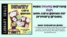 Make Dewey Decimal System learning fun in your school library with this assortment of card games for kindergarten, 1st, 2nd, 3rd and 4th grade students. Great center activities for your kids.