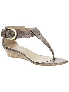 I love the comfort of the t-strap with a low heel; perfect for summer