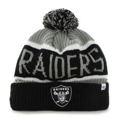 Must have product now available: Oakland Raiders C... Get it here! http://www.757sc.com/products/oakland-raiders-calgary-cuff-knit-hat?utm_campaign=social_autopilot&utm_source=pin&utm_medium=pin