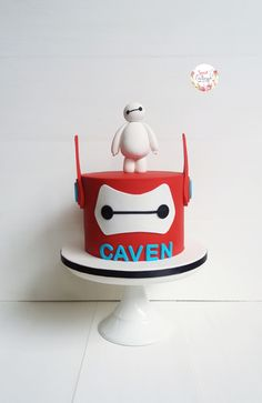 How to make baymax cake toppers Pinterest Baymax Cupcake