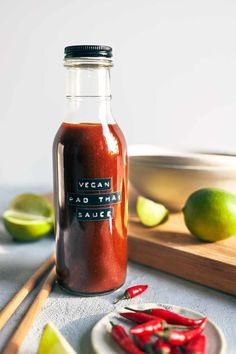 This Vegan Pad Thai Sauce requires only four ingredients - and it comes together in minutes. The perfect replacement for traditional fish-based sauces! (V+GF)