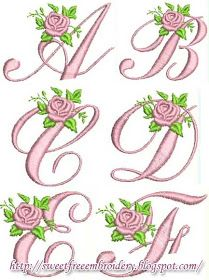Roses Alphabet Free Embroidery Collection    Download Letitbit     Download Turbobit
