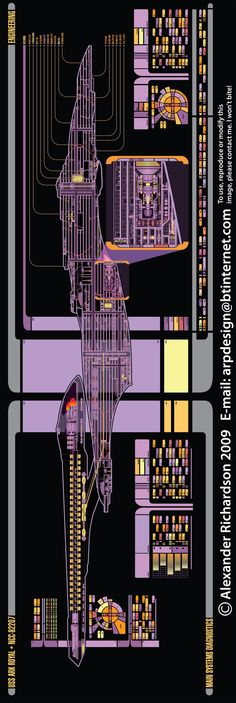 Sovereign Class USS Ark Royal schematic
