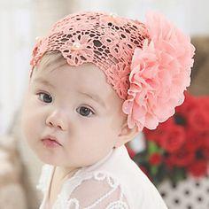 Girl's Pearl Floral Headband – USD $ 7.99