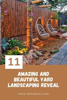 11 Amazing and Beautiful Yard Landscaping Reveal - HomyBuzz