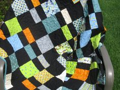 Modern Handmade Quilt Lap Patchwork Custom by Mountainquiltworks