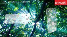 Future technology Concept Sony Revolutionary Transparent Smartphone