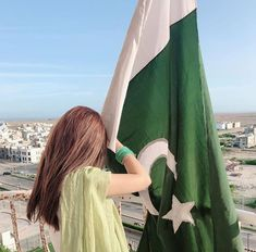 Pakistani Actress Sajjal Ali on Independence Day wearing white and Green with Pakistani Flag. Girl Pictures, Girl Photos, Pak Army Soldiers, Sajjal Ali, Pakistan Independence Day, Dps For Girls, Independance Day, Pakistani Actress, Pakistani Girl