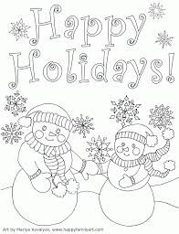 Image Result For Free Holiday Coloring Pages For Kids With Images