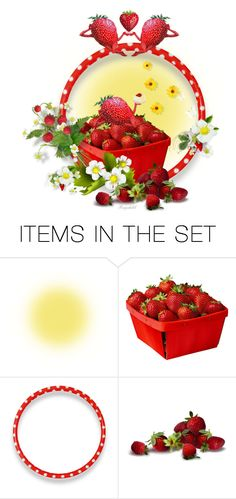 """""""Strawberry 🍓🍓🍓🍓Fields"""" by ragnh-mjos ❤ liked on Polyvore featuring art"""