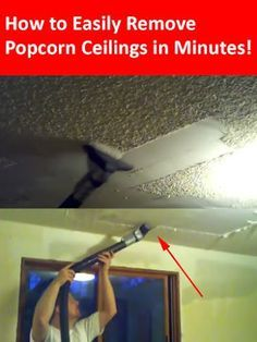 How to Remove Popcorn Ceilings in Less than 10 Minutes! Popcorn ceiling removal made easy!
