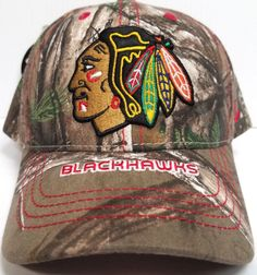334384fecf9 Chicago Blackhawks Zephyr Cap Adjustable Snapback Stix Realtree Camo Hat NHL