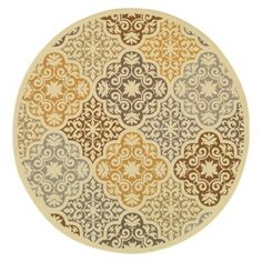 Kelsey Medallion Indoor/Outdoor Round Area Rug - 7'10""