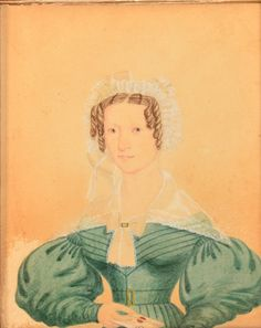 19th Century Miniature Portait Painting on Paper of a : Lot 519