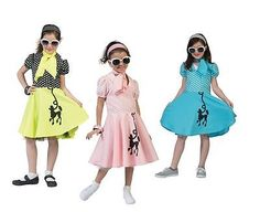 ##girls pink / yellow / blue grease poodle #dress for kids fancy #dress 50s #costu,  View more on the LINK: http://www.zeppy.io/product/gb/2/262198074861/