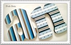 Custom Hand Painted Decorative Wooden Wall Letters por PoshDots
