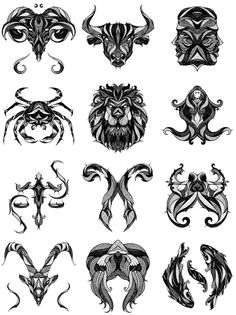 Signes-Zodiac-Astrologie-Signe art for all things zodiac tattoos, tattoos e Tatoo Art, Body Art Tattoos, Tattoo Drawings, Tribal Tattoos, Cool Tattoos, Art Drawings, Wing Tattoos, Sleeve Tattoos, Pet Tattoos