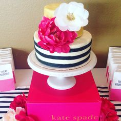 ideas baby shower food pink kate spade for 2019 Kate Spade Cake, Kate Spade Party, Bridal Shower Kate Spade, Moms 50th Birthday, Birthday Brunch, Thirty Birthday, Birthday Ideas, Baby Shower Cakes, Baby Shower Themes