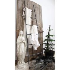 Decoratieve ladder antraciet Jeanne d'arc Living