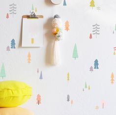 Hand Drawn Forest Compilation Pastels - WALL DECAL