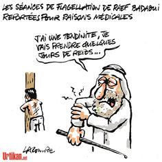 Flagellation en Arabie Saoudite de Raef Bbadaoui - Dessin de Lacombe