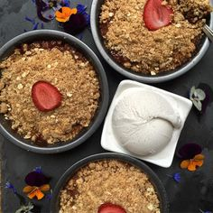 - Organic rhubarb, apple & strawberry crumble For fruit ...