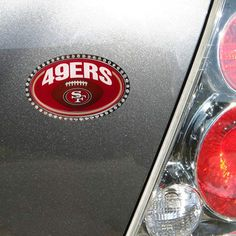 San Francisco 49ers Football Domed Metal Emblem - $24.99