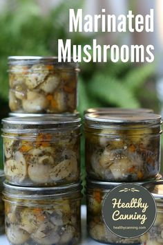 Marinated – You tube Canned Mushrooms, Marinated Mushrooms, Stuffed Mushrooms, Pickled Mushrooms Recipe, Home Canning Recipes, Dinner Recipes, Cooking Recipes, Antipasto, Canning Pickles