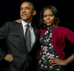 Obama looks like Superman, as well he should & Michelle is gorgeous as always.