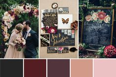 A Berry Red and Black Winter Wedding Palette | onefabday.com