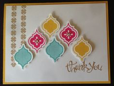 Create a quick and easy card using the new Mosaic Madness stamp set and coordinating punch from Stampin' Up!