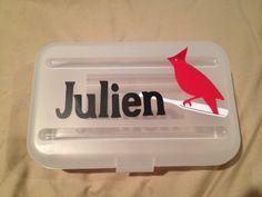 Cardinal pencil box