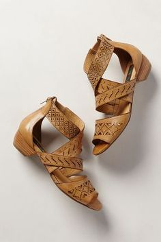 I would wear these with maxi skirts and shorts- adorable flat sandals from Antropologie