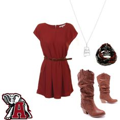 Roll Tide........Alabama Game Day!!  Dont know bout bama but Love this outfit!!