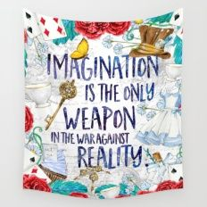 Alice in Wonderland - Imagination Wall Tapestry