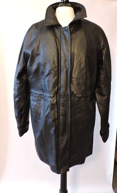 NWOT Excelled Genuine High Quality Leather Womens Black Zipper Jacket Coat Sz L  #Excelled #BasicJacket