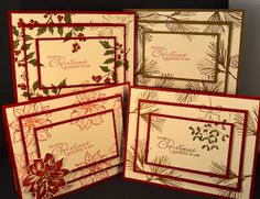 Christmas Cards- three layers INKdefinable