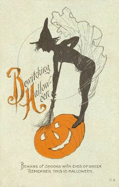 This is a 'naughty' Halloween card, much like a comic Valentine card, and which came in many forms and became a Halloween tradition.
