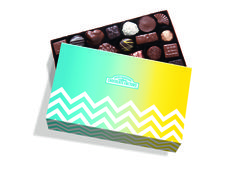 RMCF signature Large Gift Box with spring themed sleeve. #chevron