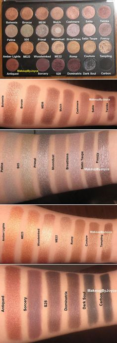 SWATCHES / DUPES :: #MAC Browns... CLICK to see which are rebuys, don't buys & dupes :: I really like Patina, Moondust & S28| #makeupbyjoyce
