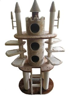 The 20 Best Cat Towers. Omg a cat castle! Puck needs this! Cool Cats, Cool Cat Trees, Diy Pour Chien, Cat Castle, Tower Castle, Diy Cat Tree, Best Cat Tree, Cat Towers, Cat Room