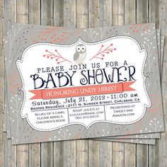 Hey, I found this really awesome Etsy listing at http://www.etsy.com/listing/120152781/coral-and-navy-owl-baby-shower