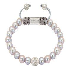 Nialaya CZ Diamond White & Grey Pearl Bracelet ($490) ❤ liked on Polyvore featuring jewelry, bracelets, braceletes, pearls, grey, cubic zirconia jewelry, nialaya jewelry, bead jewellery, pearl jewellery and white diamond jewelry