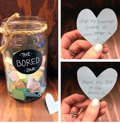 Bored jar. Or summer bucket list jar!