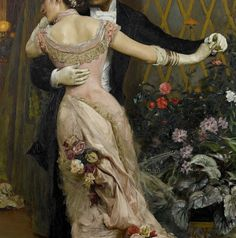 The end of the ball by Rogelio de Egusquiza