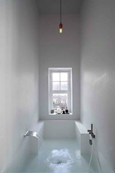 Interior design Minimalist Bath - Here we showcase a a collection of perfectly minimal interior design examples for you to use as inspiration Check out the previous post in the series 28 Bad Inspiration, Bathroom Inspiration, Interior Inspiration, Bathroom Ideas, Bathtub Ideas, Bathroom Layout, Bathroom Colors, Small Bathtub, Bathroom Goals